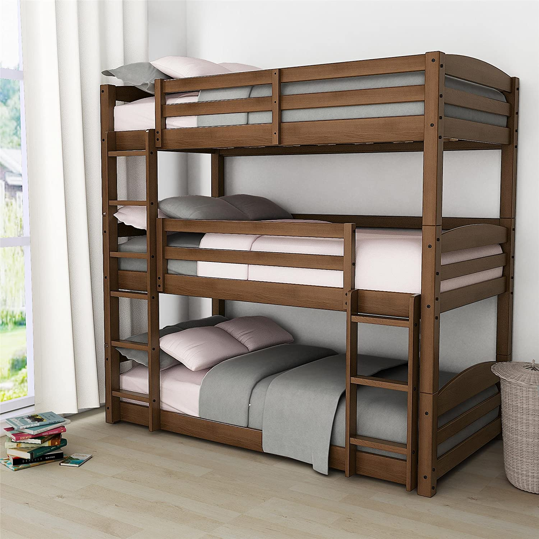 Dorel Living Phoenix Triple Floor Bunk Bed, White FZ7891TBBW