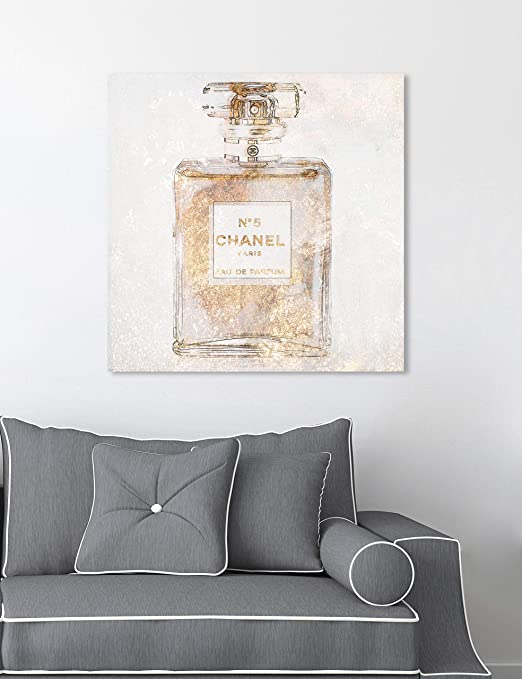 Amazon Com Oliver Gal Parfum Glimmer The Fashion Wall Art Decor Collection Modern Premium Canvas Art Print Posters Prints