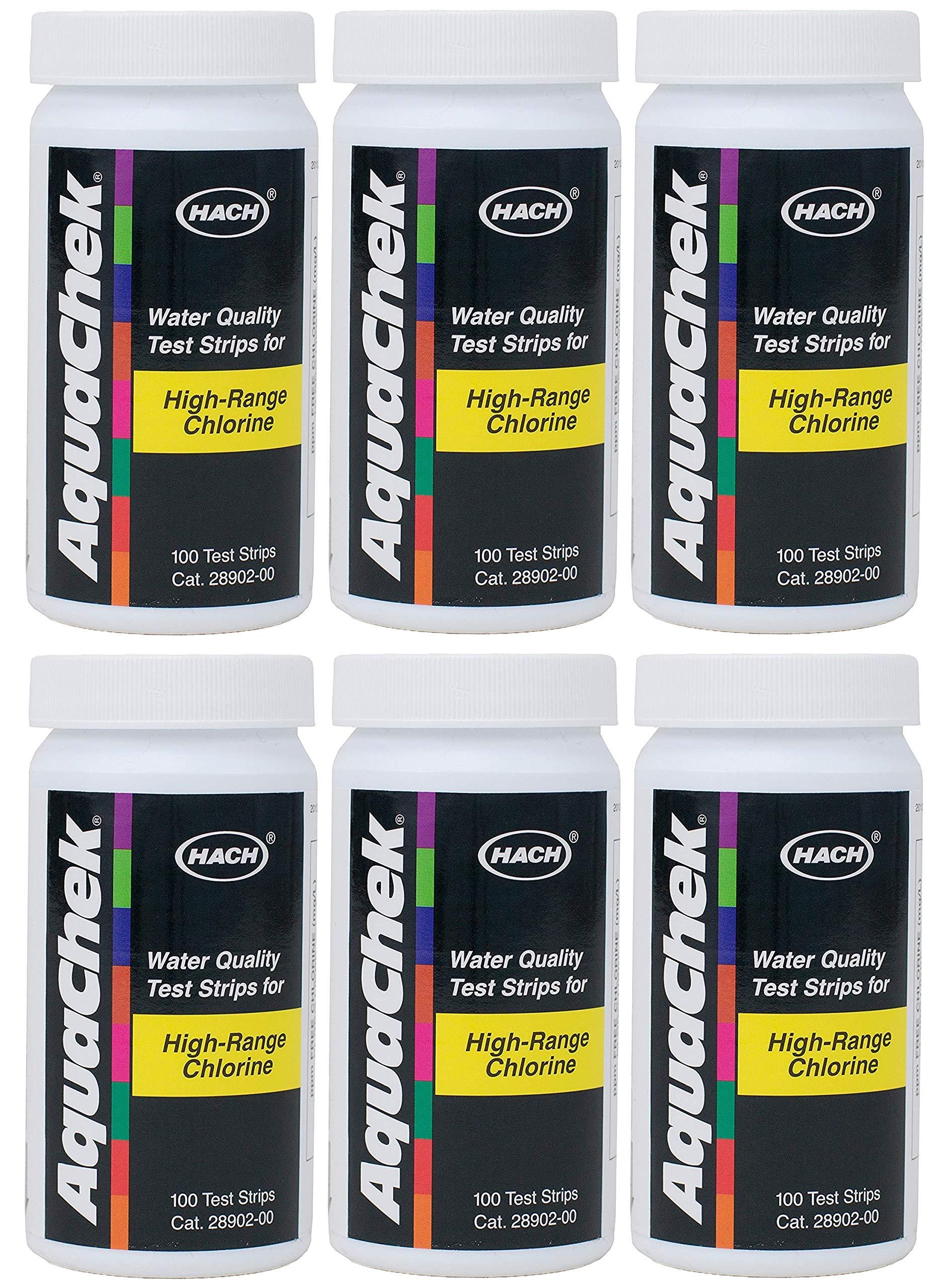 AquaChek High Range Chlorine Test Strips (100 Count) (6 Pack)