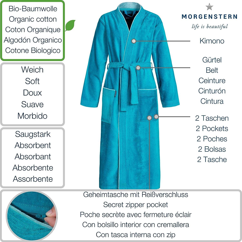 Morgenstern Damen-Bademantel Lotte aus Bio Baumwolle