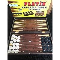 Staroyun STAROYUN102037124,5x 48x 6cm Big Platinum Backgammon