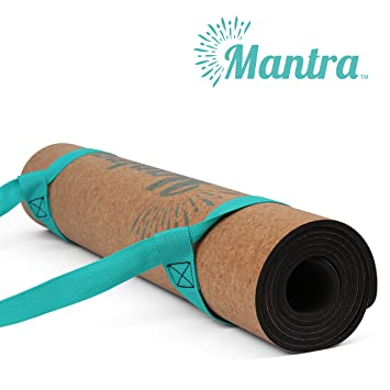 Mantra™ Cork Yoga Mat - Best Yoga Mat for Non Slip Grip - Thick Yoga