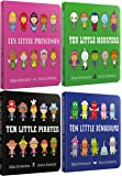 Mike Brownlow Ten Little Collection 4 Board Books Set (Ten Little Pirates, Ten Little Dinosaurs, Ten Little Monsters, Ten Little Princesses)
