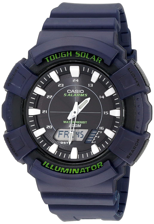 Casio Hombre ad-s800wh-2avcf Solar Reloj con Banda de Resina ...