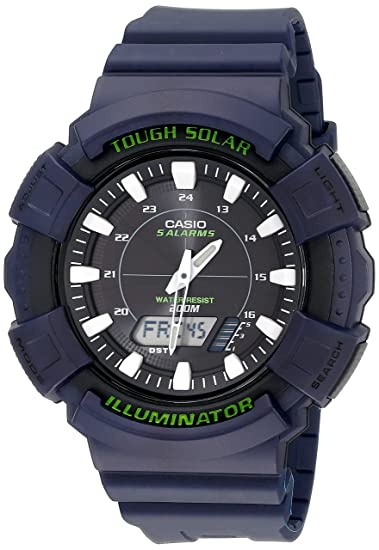Casio Hombre ad-s800wh-2avcf Solar Reloj con Banda de Resina de Color Azul: Casio: Amazon.es: Relojes