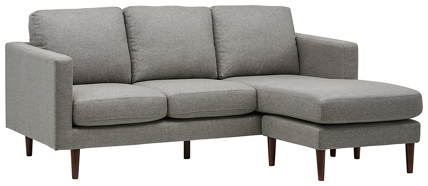 Amazoncom Rivet Revolve Modern Reversible Chaise Sectional 80w