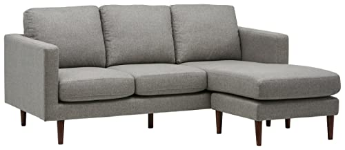 Rivet Revolve Mid-Century Modern Reversible Chaise Sectional Sofa Couch