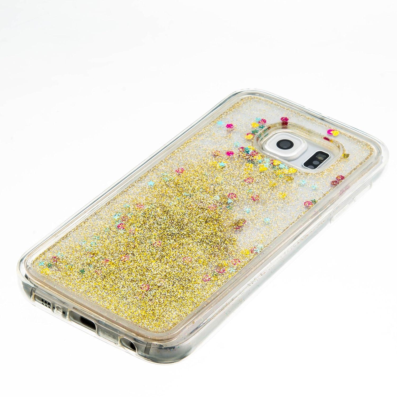 Samsung Galaxy S6 YIBO34947 Gold Lomogo Glitzer Fl/üssig Schutzh/ülle Sto/ßfest Kratzfest Handyh/ülle Case f/ür Samsung Galaxy S6 G920 H/ülle Silikon