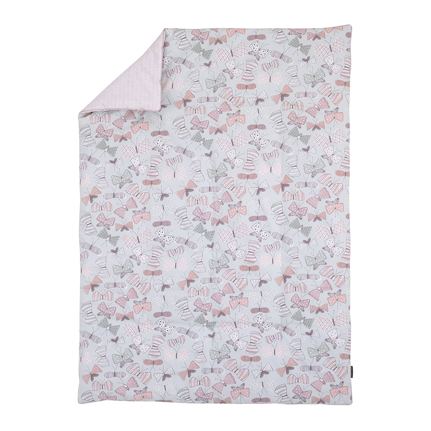 Dwell Studio Arden Butterfly Print Comforter, Violet/Pink/Gray Crown Crafts Inc 2781001