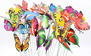 lebeila butterfly garden ornaments patio dcor butterfly party supplies butterfly decorations for outdoor garden - Outdoor Party Supplies