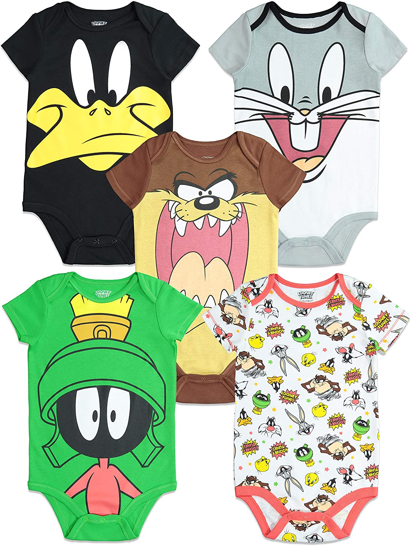 Warner Bros 5 Unidades Looney Tunes Body para beb/é