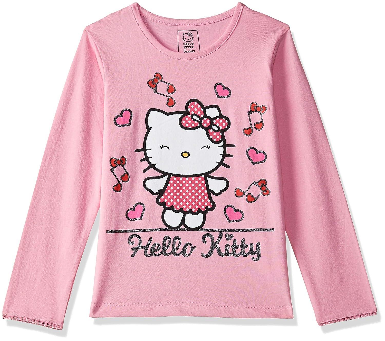 Girls Hello Kitty Long Sleeve Cotton T-Shirt Top