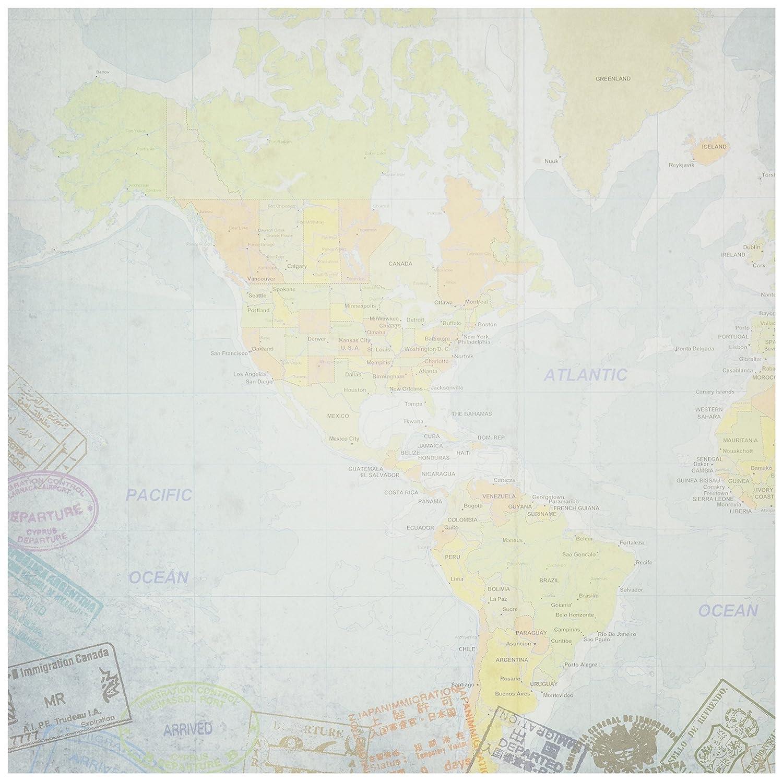 Amazon travel paper 12x12 world travel western hemisphere map amazon travel paper 12x12 world travel western hemisphere map 25 per pack gumiabroncs Choice Image
