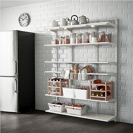 IKEA Algot - pared vertical / estante / Cesta blanca: Amazon ...