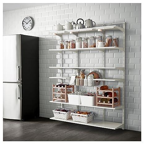 Ikea Algot Mensola Da Parete Verticalecestino Bianco Amazonit
