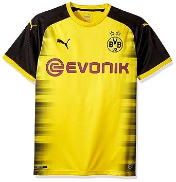 08fef12c8e84 PUMA Men s Bvb Borussia Dortmund Int l Replica Shirt with Sponsor ...