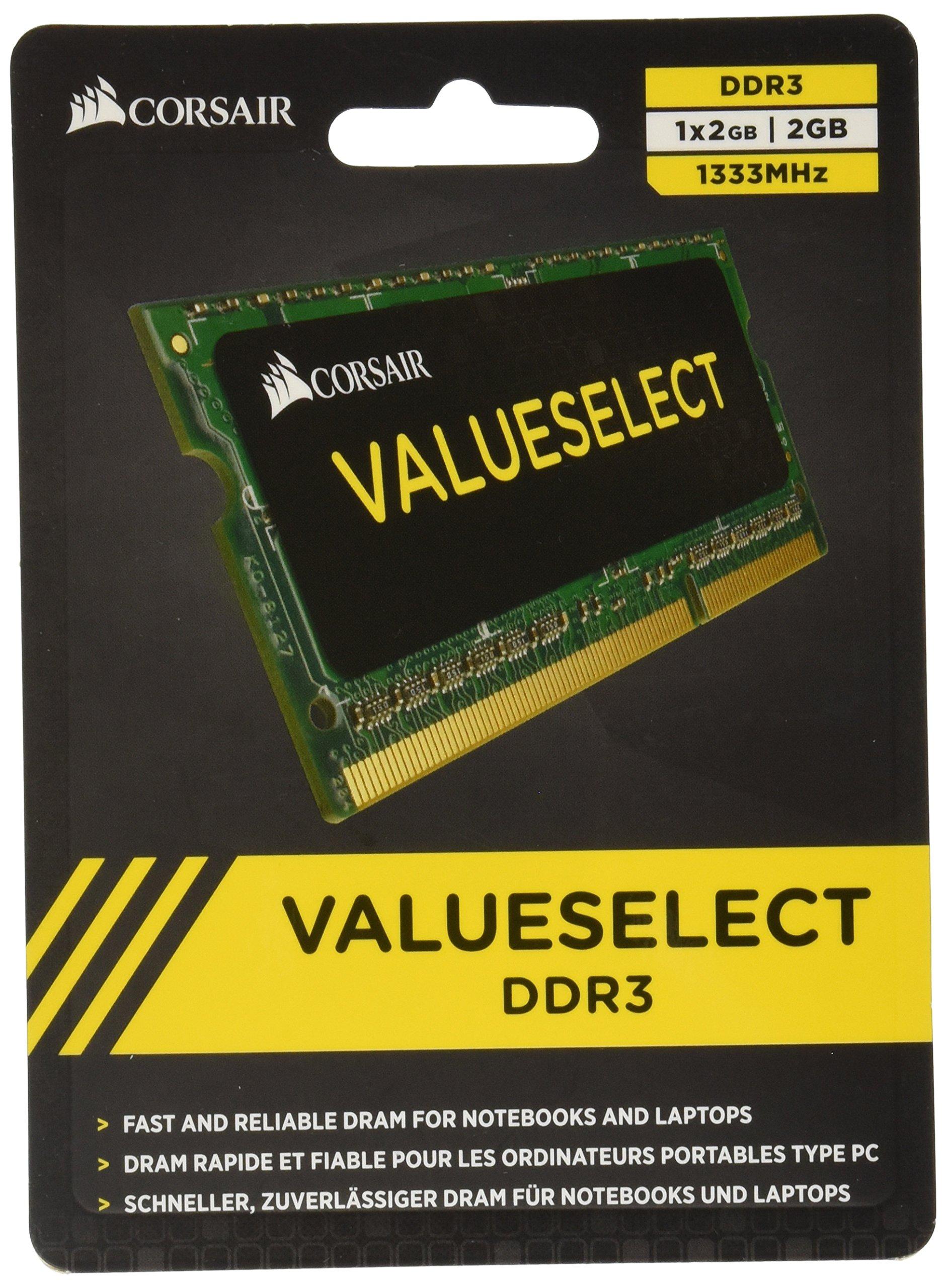 Memoria Ram 2GB DDR3 1333MHZ PC3-10600 SODIMM CORSAIR
