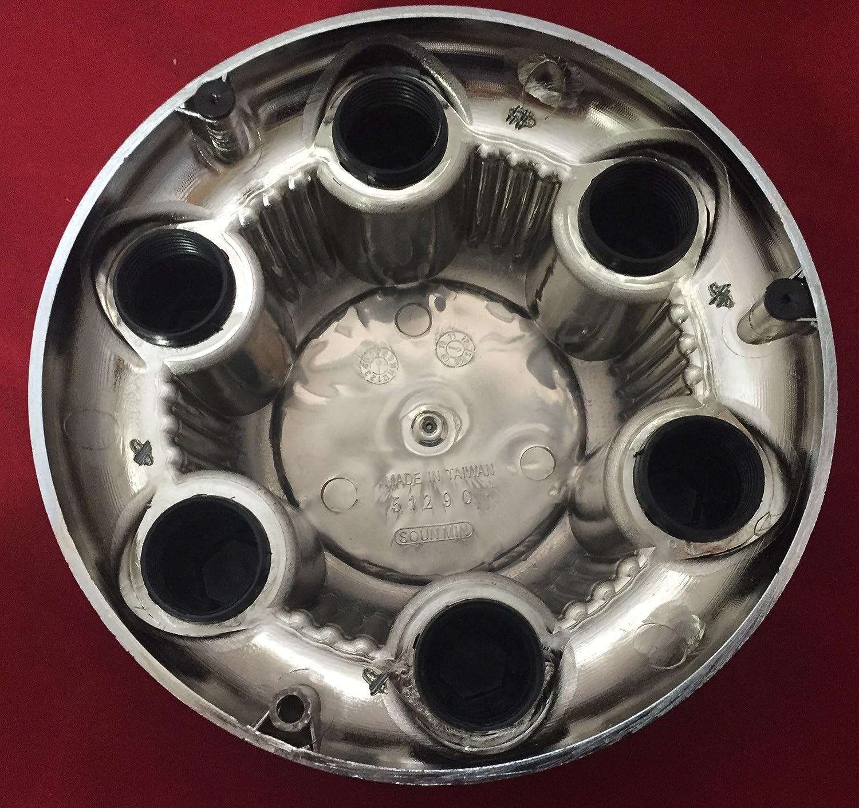 ONE Piece After Market Chrome Chevy Silverado 6 Lug 1500 Center Cap 16 17 Steel wheels Yellow Logo
