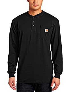 26fad50dea5e Carhartt Men's Workwear Pocket Henley Shirt (Regular and Big & Tall ...