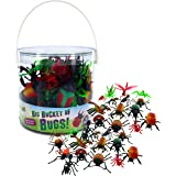 Bug Action Figure - Big Buckets of 30 Giant Insects - From Ants to Ladybugs to Tarantula