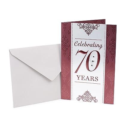 Hallmark 70th Birthday Card Scrollwork Pattern