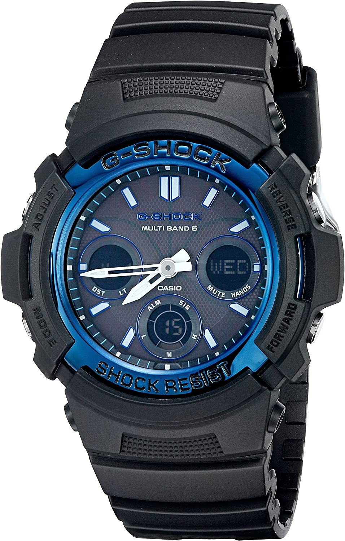 Casio Men s G-Shock AWGM100A-1A Tough Solar Black Resin Sport Watch