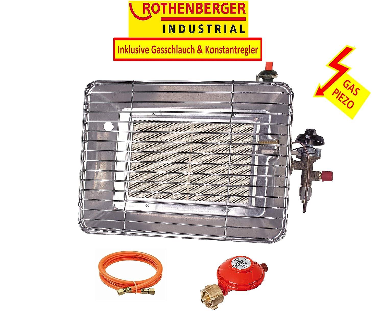 Rothenberger Industrial 035985F Chauffage Radiant Infrarouge de Chantier Piezo, 4200 W, Gris Rothenberger Industrial GmbH