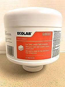 Ecolab Low Temp Laundry Solid Detergent- 9 LB
