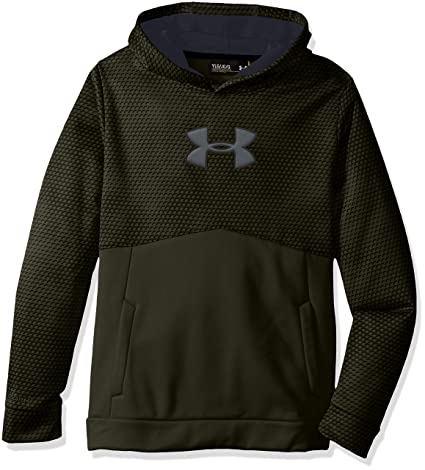 purple and green under armour hoodie