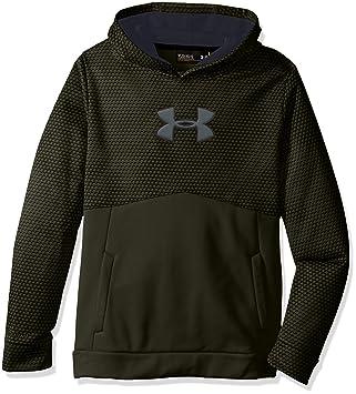 under armour x storm hoodie. under armour boys\u0027 storm fleece mid logo hoodie, artillery green/stealth gray x hoodie e
