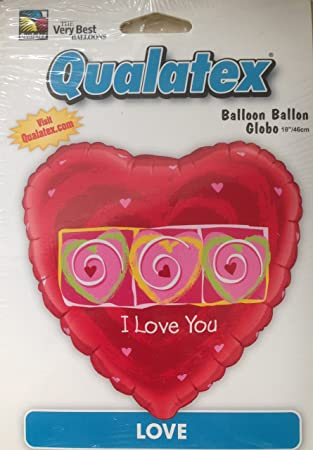 Qualatex giant 36 inch red foil heart shaped balloon i love you qualatex giant 36 inch red foil heart shaped balloon quoti love thecheapjerseys Image collections