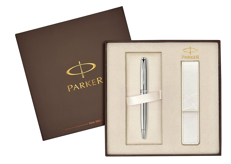 stylo bille parker blanc