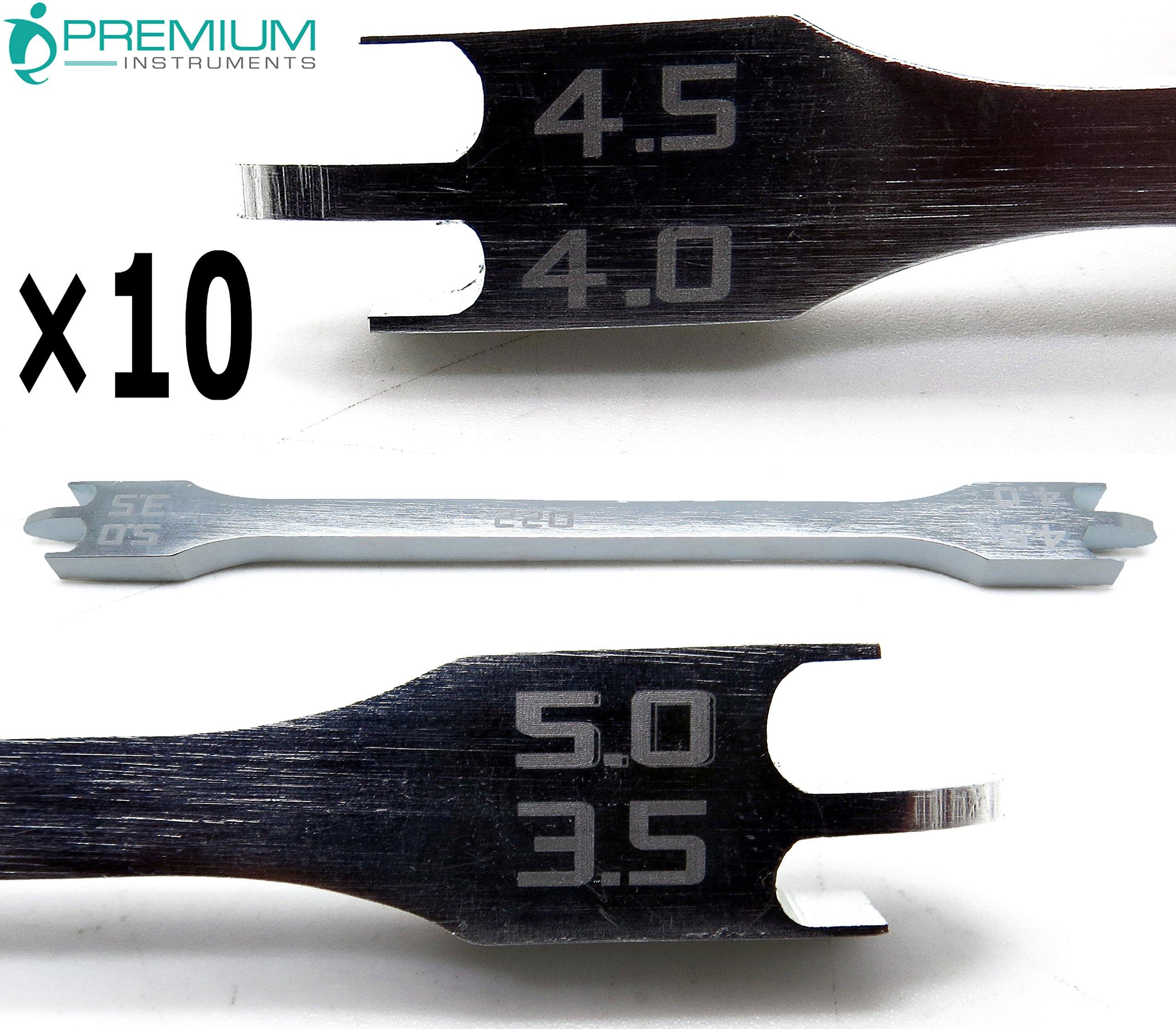 10× Dental Bracket Height Gauge 022 Orthodontic 3.5mm-4mm-4.5mm-5mm Instruments