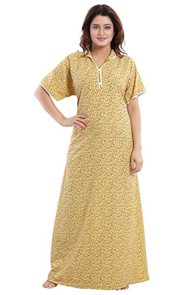 e1bc8a3e3 TUCUTE Girls Women s Cotton Crush Fabric Night Gown Nightwear Nighty  Nightdress with