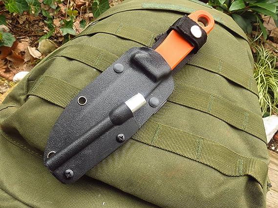BE-X Feuerstahl f/ür Allemans Messer mit Kydex Halterung /& Schrauben