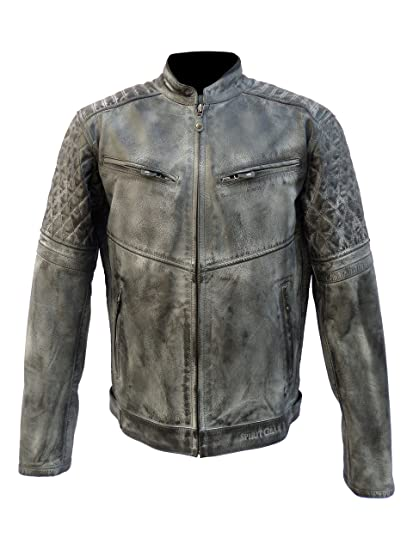 Amazon Com Men S Vintage Leather Motorcycle Jacket Pattern Leather
