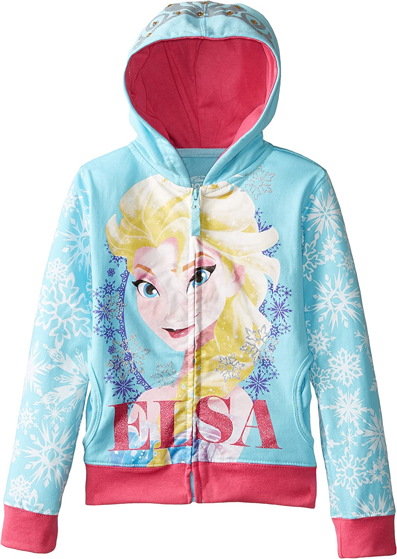 Disney frozen elsa fille bleu zip up sweat à capuche: Amazon