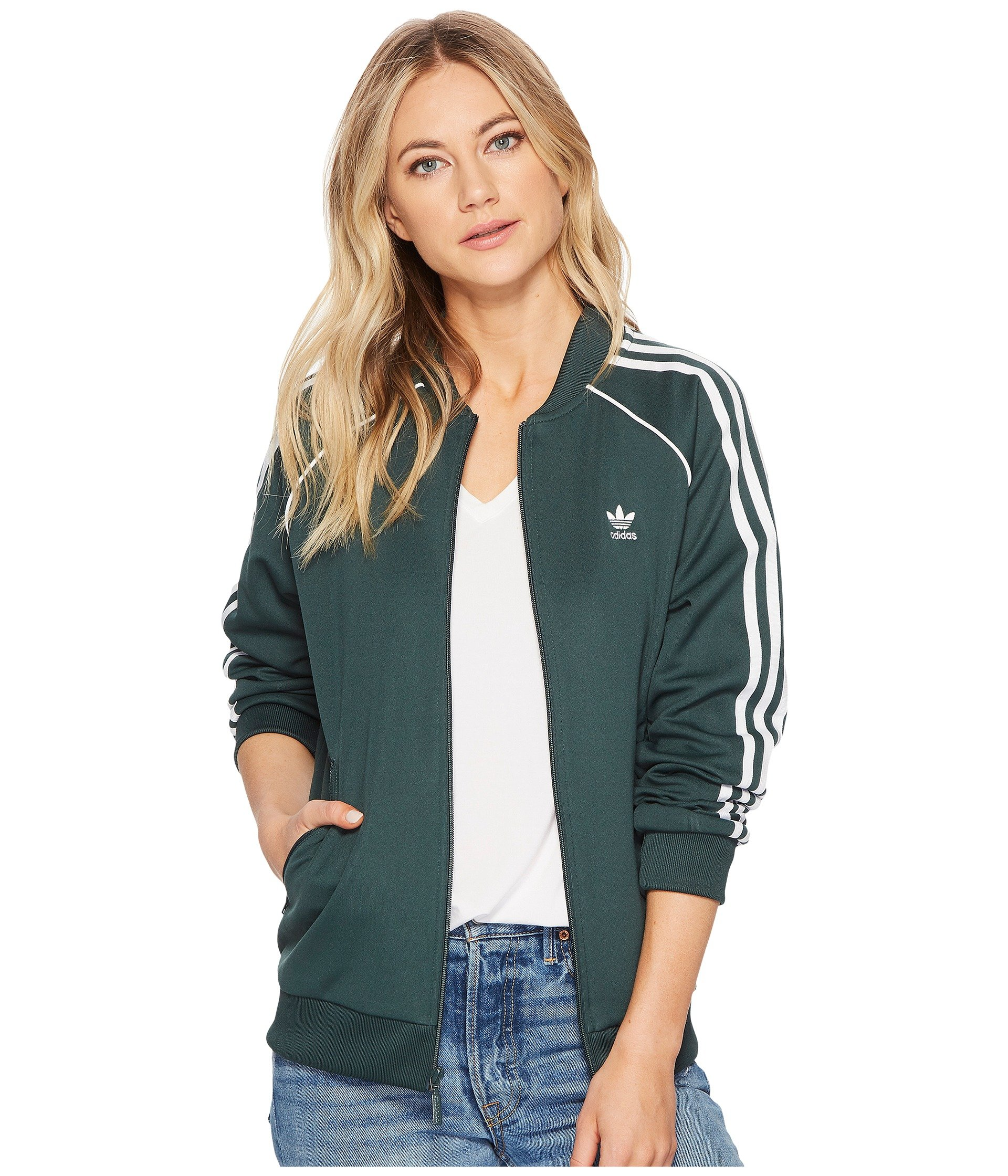 adidas Originals Women Navy SST Track Jacket 70% polyester