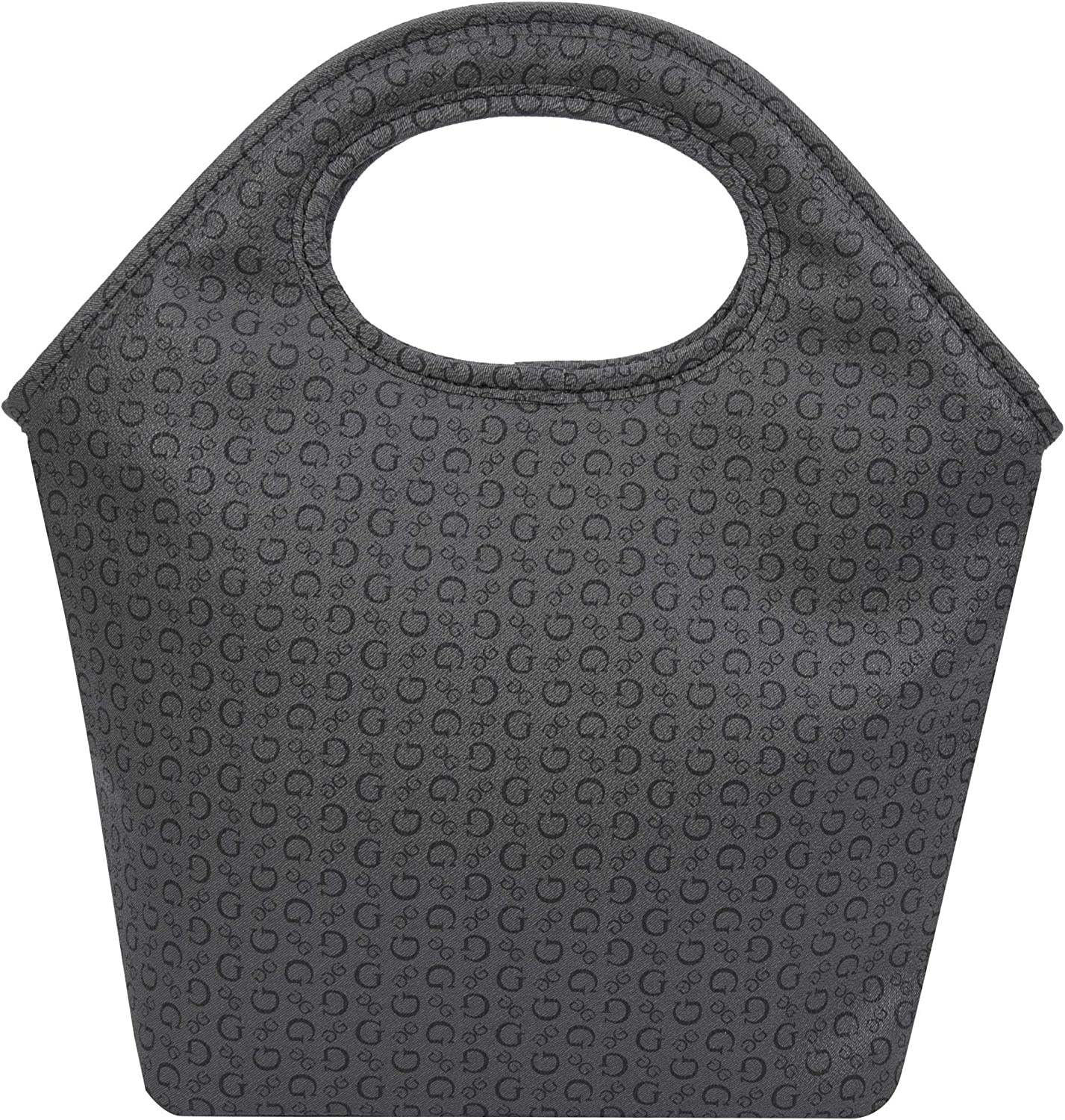 Guess Junction Coated PVC Insulated Lunch Tote, Charcoal