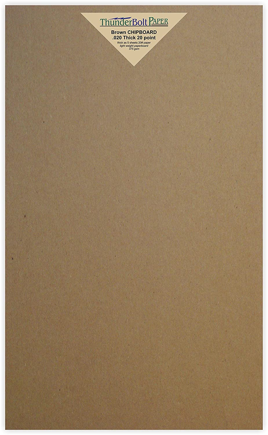 20 Sheets Chipboard 20pt (point) 8.5 X 14 Inches Light Weight Legal Size .020 Caliper Thick Cardboard Craft|Ship Brown Kraft Paper Board TBP