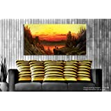 Tamatina Canvas Painting - Dear Sunrise - Paintings For Living Room - Paintings For Bedroom - Canvas Wall Art - Indian Canvas Paintings