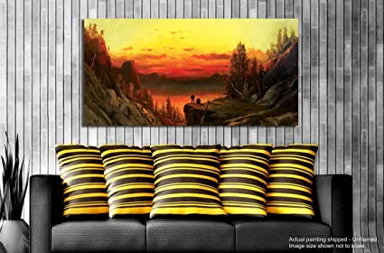 Tamatina Canvas Painting - Dear Sunrise - Paintings For Living Room ...