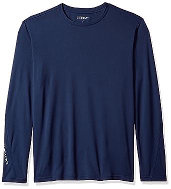a5a56d84bcf Skechers Mens MLT4 Go Dri Ultra UPF 50 Long Sleeve Mock Neck Tee Long Sleeve  Golf Shirt