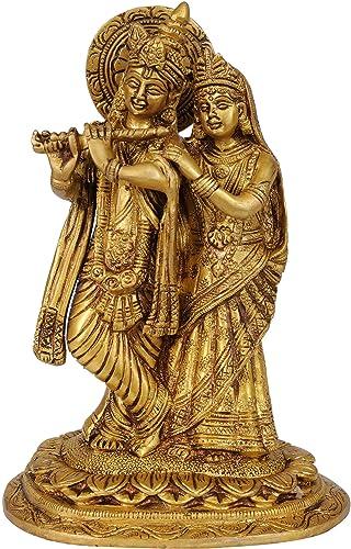 The Inseparable Radha Krishna – Brass Statue