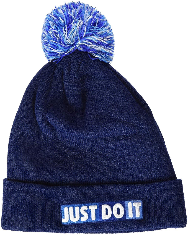 Nike Niñ os Beanie –  Gorro, otoñ o/Invierno, Infantil, Color Blue Void/White, tamañ o Talla ú nica otoño/Invierno tamaño Talla única 927228-478