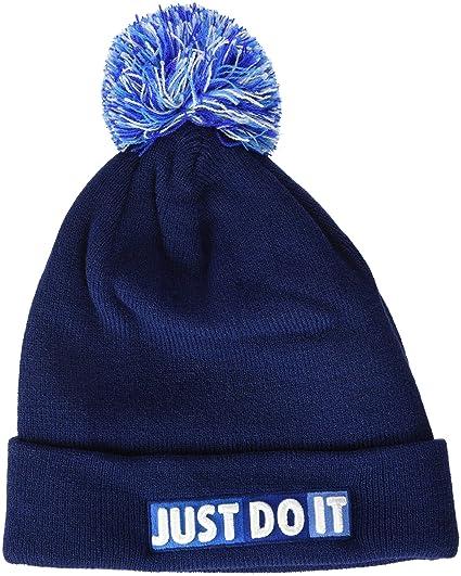 Nike Niños Beanie – Gorro, otoño/Invierno, Infantil, Color Blue Void/