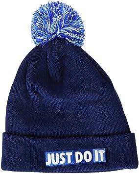 b711f2489461 Nike Bonnet pour Enfant Taille Unique Blue Void White  Amazon.fr ...