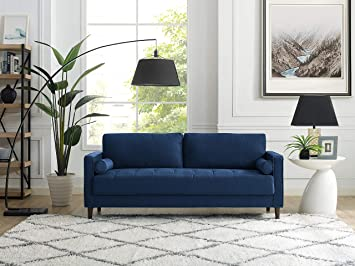 Lifestyle Solutions Lexington Sofa In Navy Blue Furniture Decor