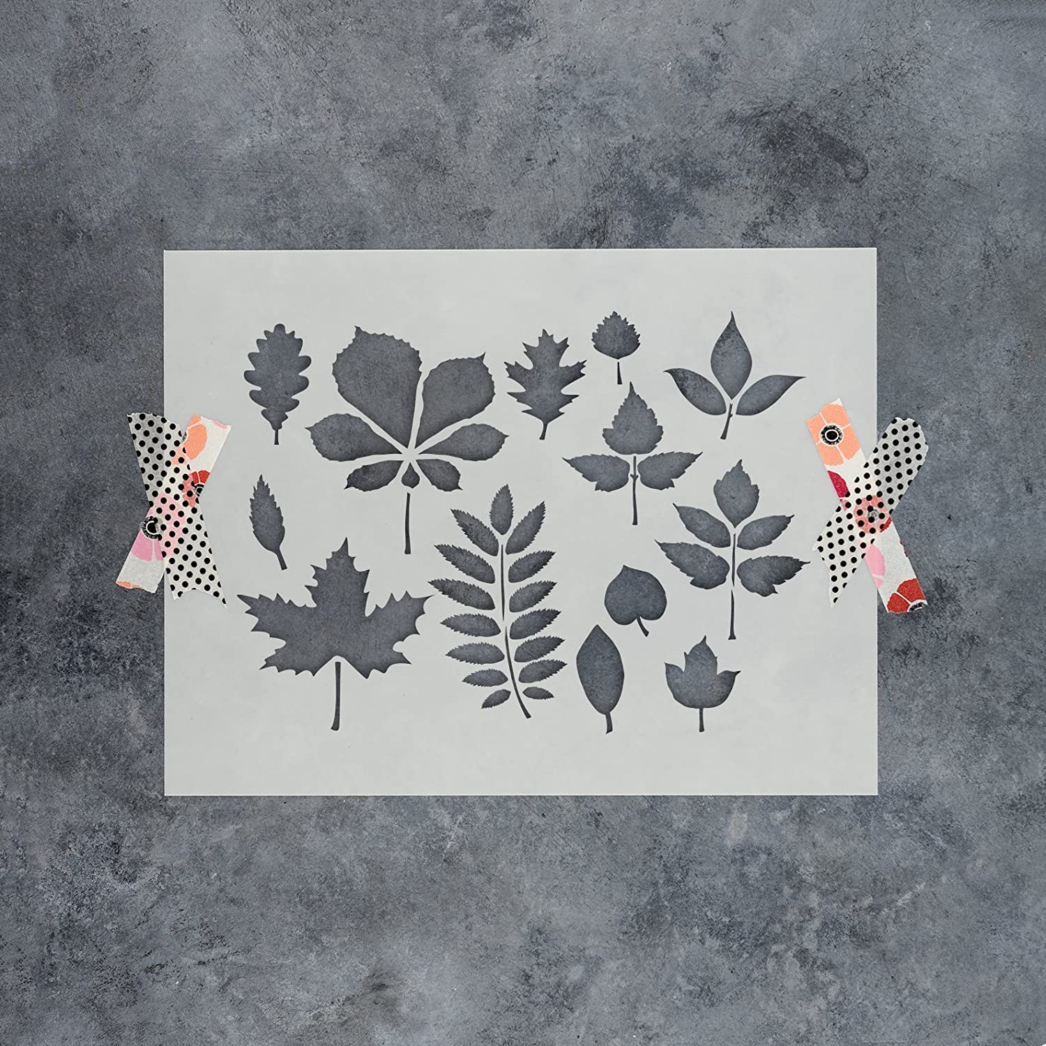 Fall Leaves Stencil Template for Walls and Crafts Reusable Stencils for Painting in Small /& Large Sizes