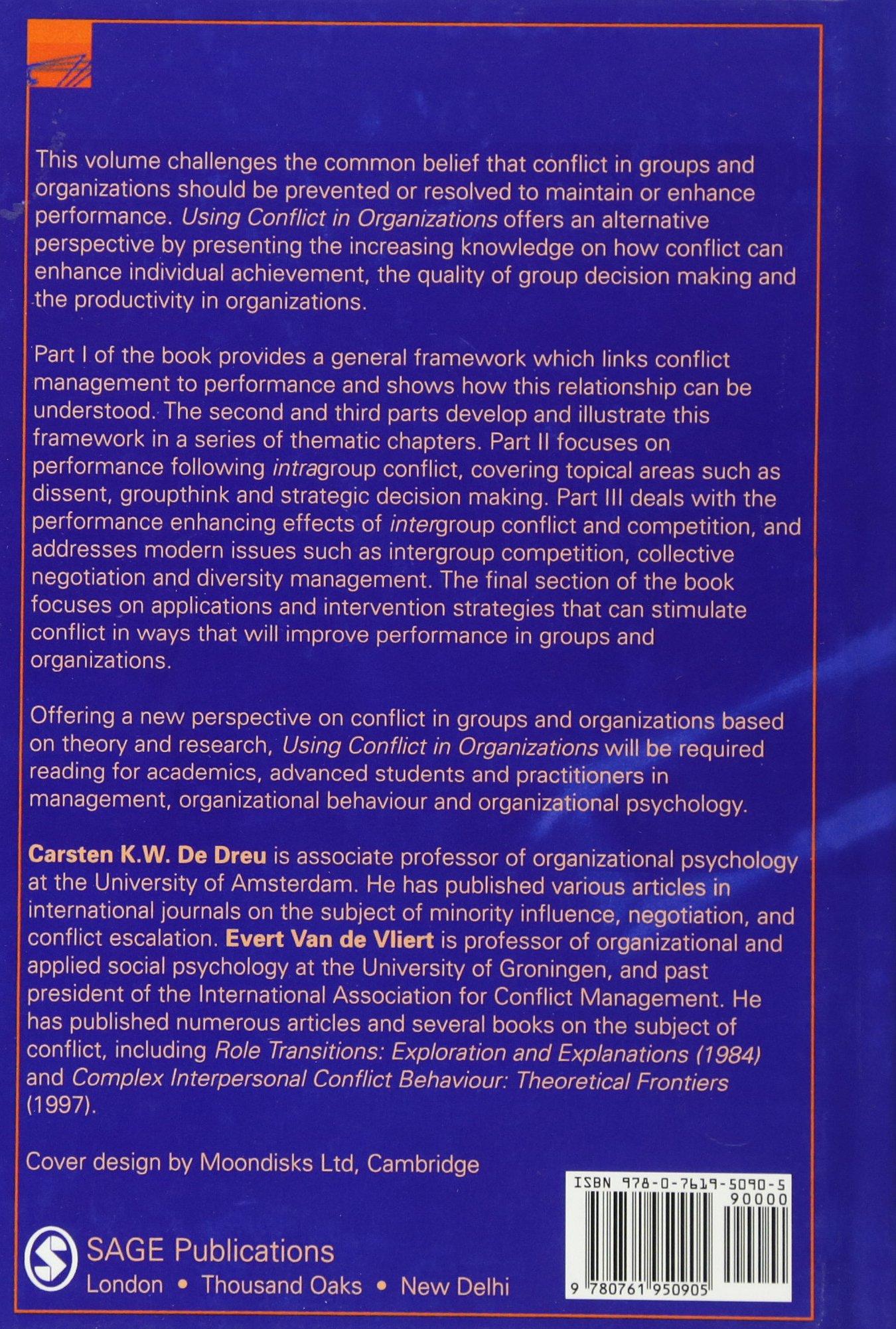 conflict management in organisational behaviour